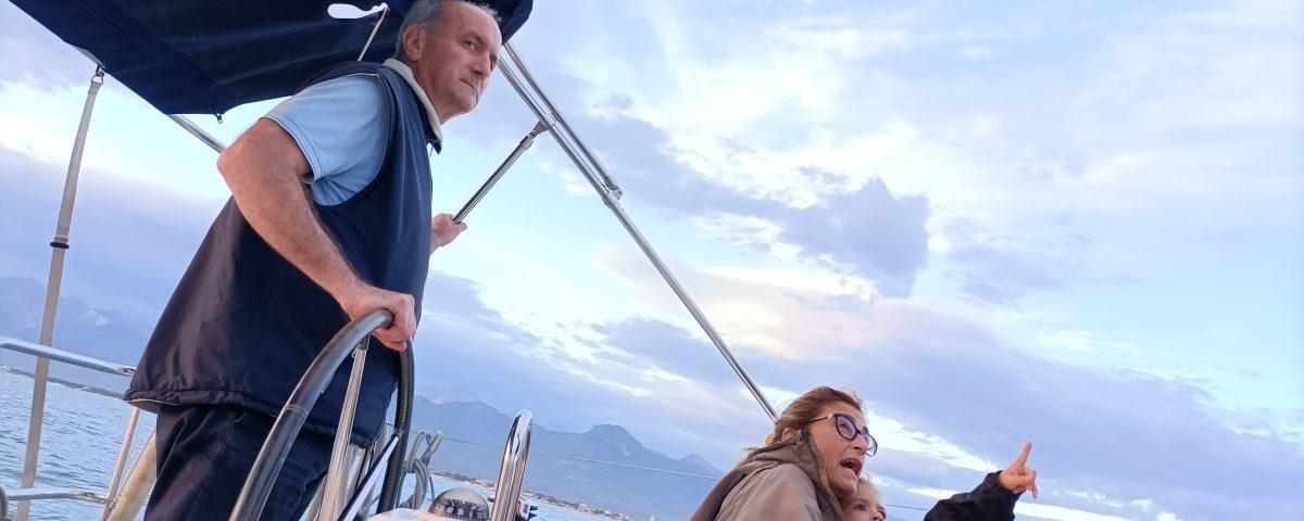 Nonni e Sosò in barca
